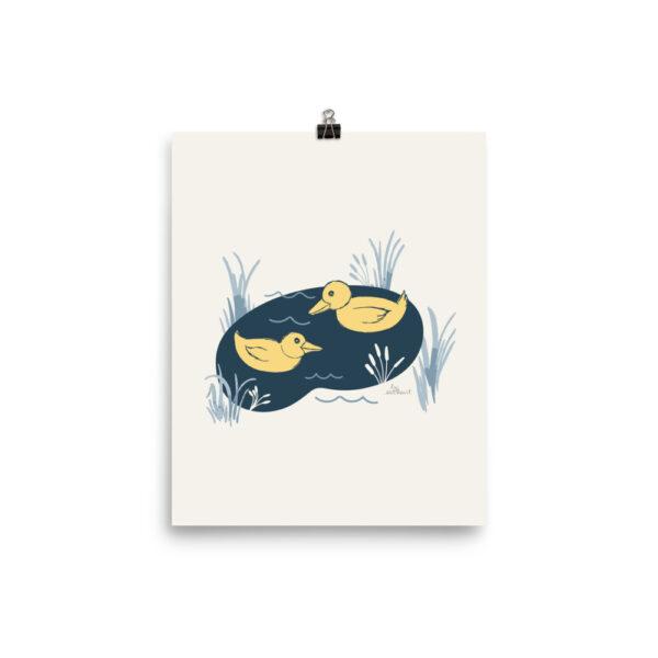 ducks art print nursery