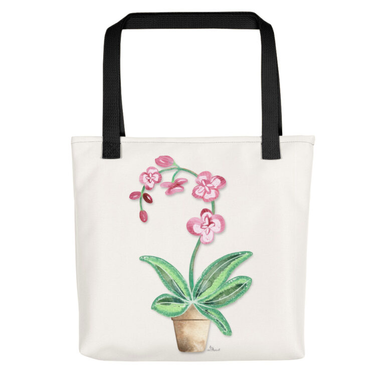 potted orchid tote bag