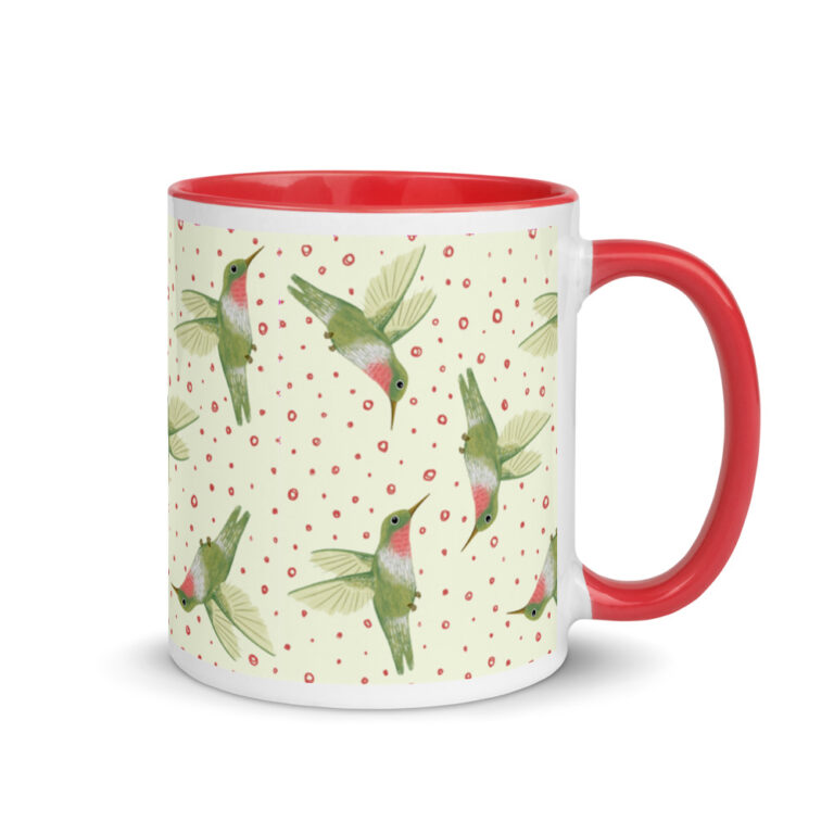 hummingbird coffee cup