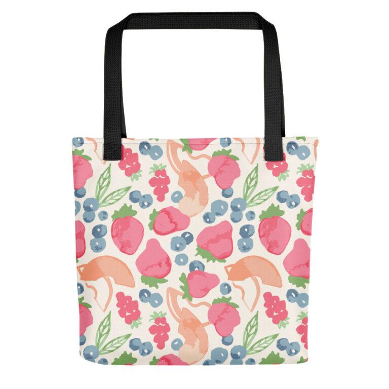 fruit art tote bag