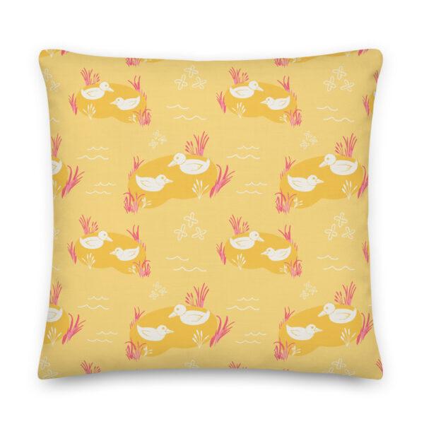 ducks pillow yellow