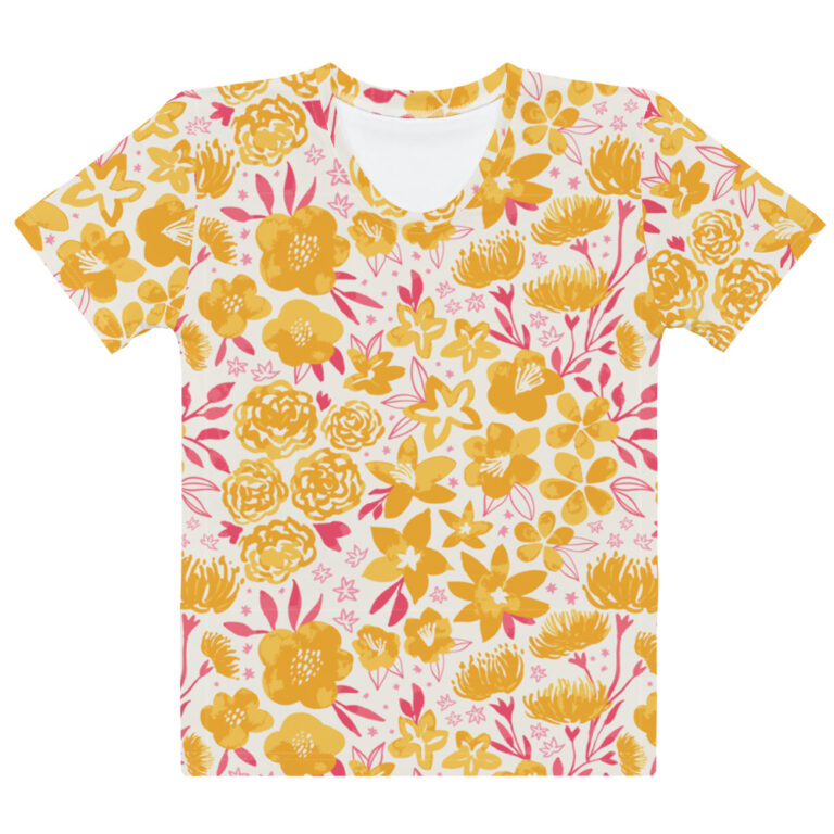 yellow floral tshirt