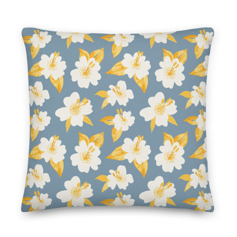 lily pillow blue