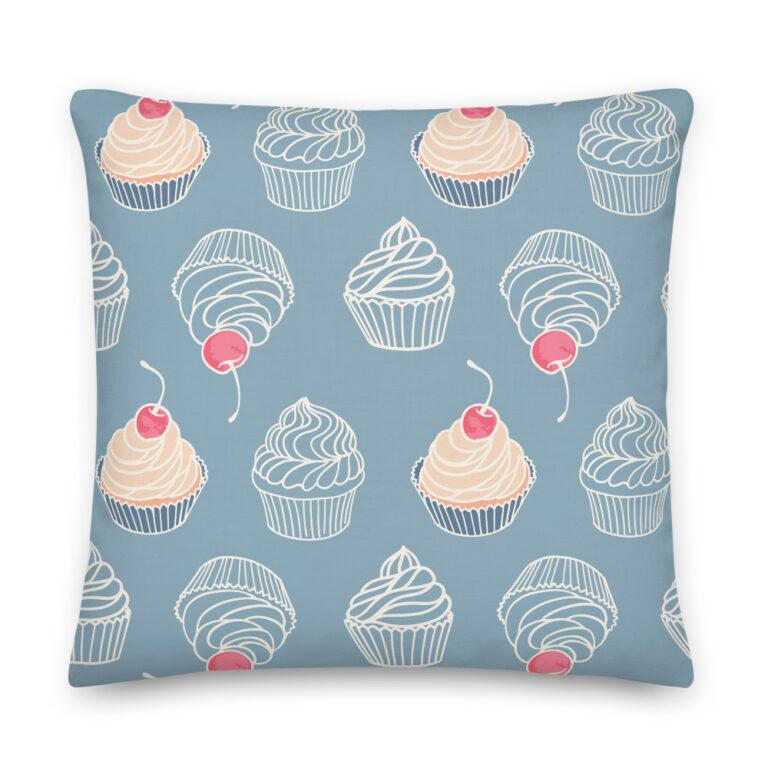 vanilla cupcakes pillow