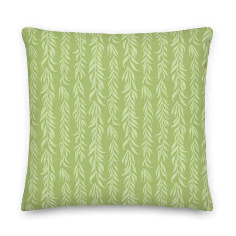 green plant pillow