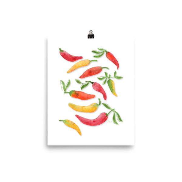 banana pepper art print
