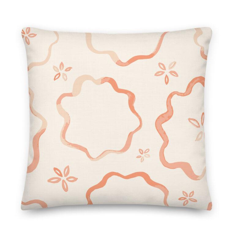 peach pie pillow