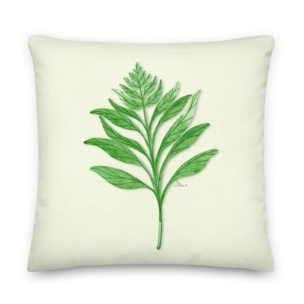 fern print pillow