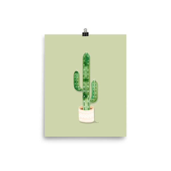 potted cactus poster