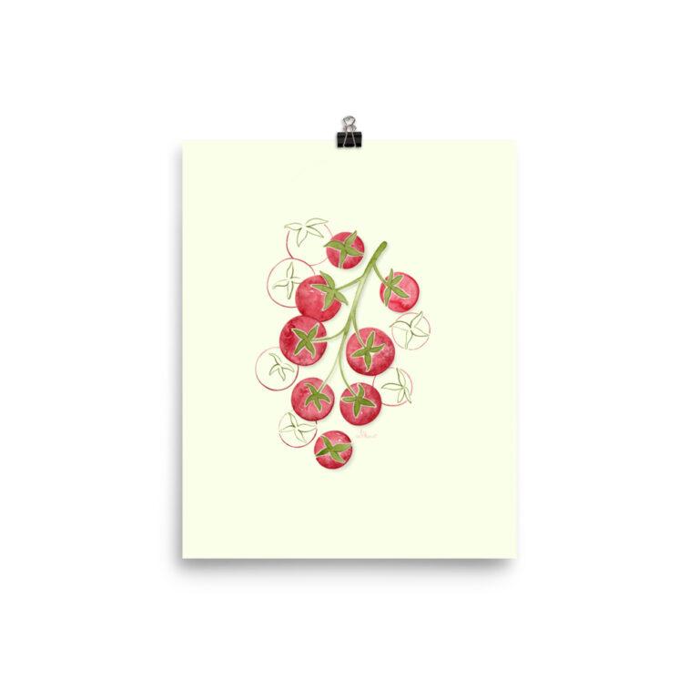 tomato plant art print