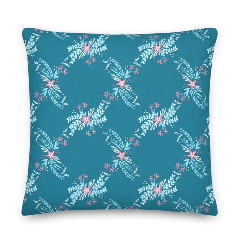 diamond bouquet pillow