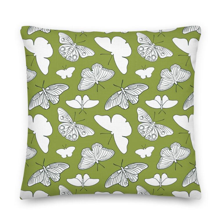 butterfly moth pillow