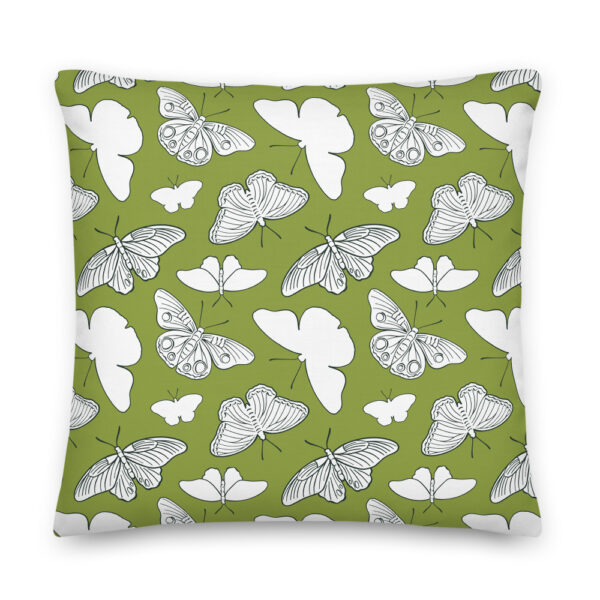 butterfly olive pillow