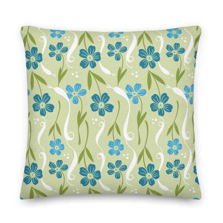 green snake pillow