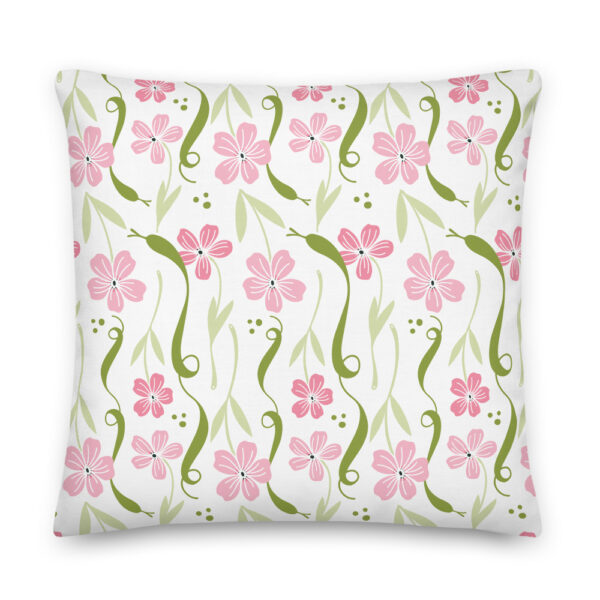 pink snake pillow