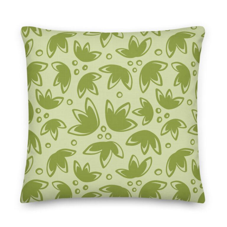 tulip pillow green