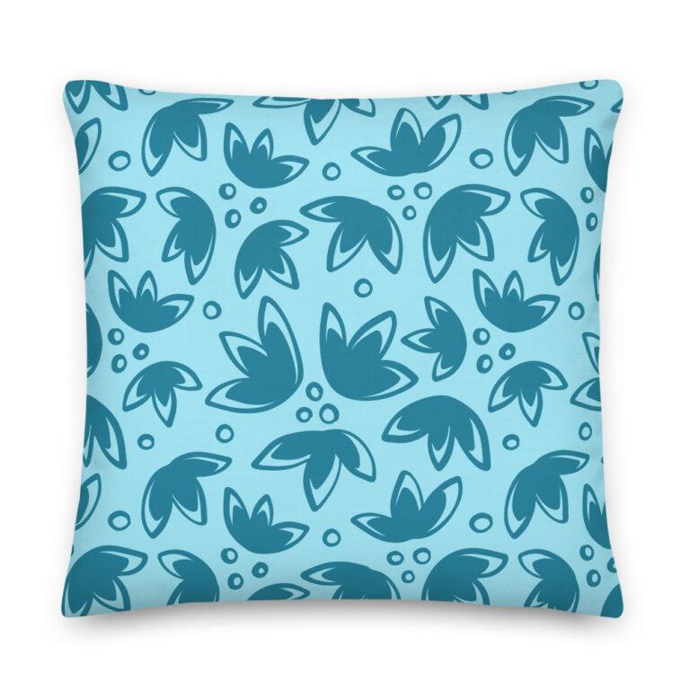 tulip pillow blue